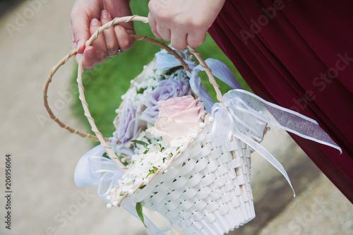 Details Rose Blumen Deko Hochzeit Heiraten Stock Photo And Royalty