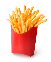 french fries in a paper cup
