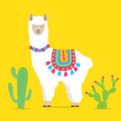 cute drawn llama or alpaca