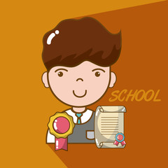 School boy cartoon
