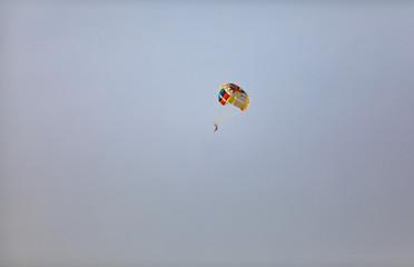 skydiver in the sky