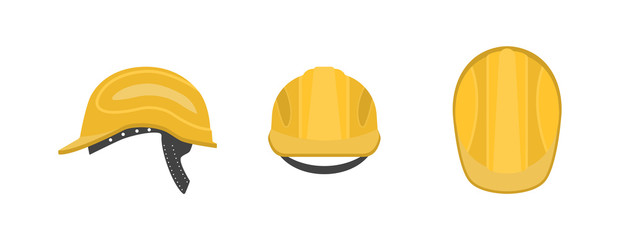 Vector illustration. Construction helmet on a white background.