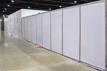 partitioning the wall and ceiling
