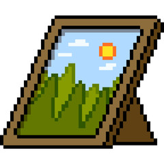 vector pixel art nature photo
