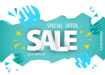 Sale banner template design for your business.