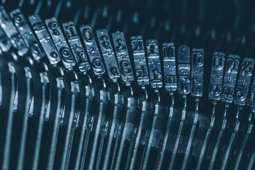 Typebar of typewriter