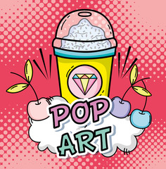 Pop art cartoons concept