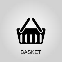 Basket icon. Basket symbol. Flat design. Stock - Vector illustration