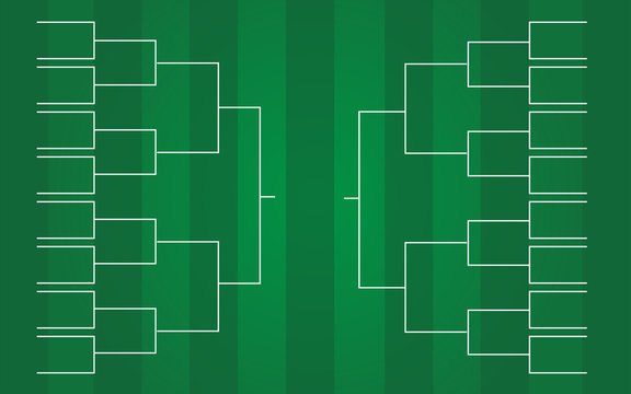 vector of 16 teams tournament bracket templates