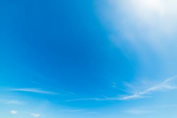 Blue sky in spring
