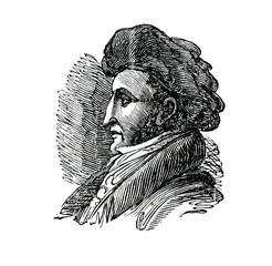 Gioachino Rossini, italian composer (from Das Heller-Magazin, July 3, 1834)