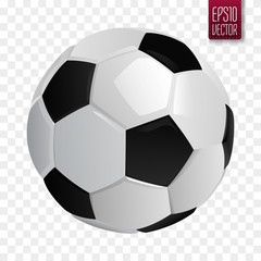 Soccer ball isolated. European football vector illustration