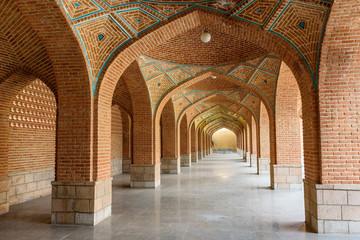 Arched corridor in courtyard of Blue Mosque. Tabriz. East Azerbaijan province. Iran