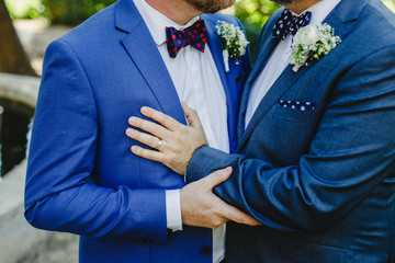 Couple of gay men getting married