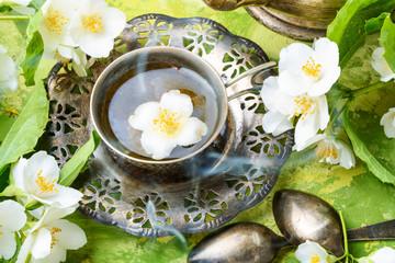 Fototapete - East tea jasmine flowers