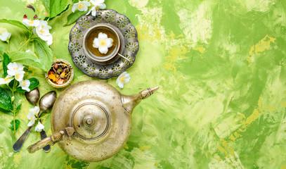 Wall Mural - Tea with jasmine