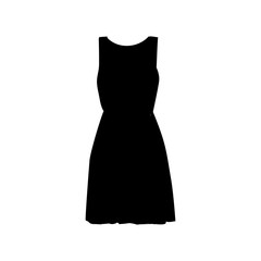 vector silhouette dress