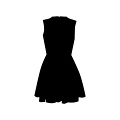vector silhouette dress on white background