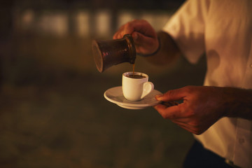 Cup of traditional arabic coffee