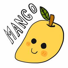 Mango cartoon doodle vector illustration