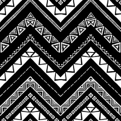 Hand drawn pattern. Vector Zigzag and stripe line.