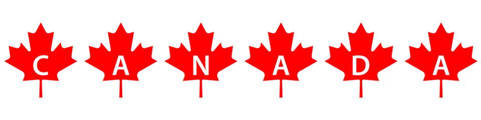 Canada maple leaf concept
