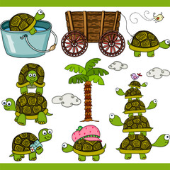 Turtle set digital elements