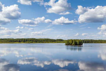 Foto op Aluminium Rivier Landscape on the river Vyg, Russia