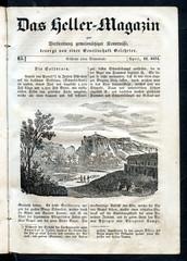 Solfatara, shallow volcanic crater at Pozzuoli, near Naples (from Das Heller-Magazin, April 12, 1834)