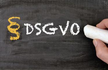 DSGVO Datensicherheits Grundverordnung Tafel
