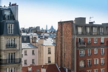 Vue de Paris sur le sacré coeur