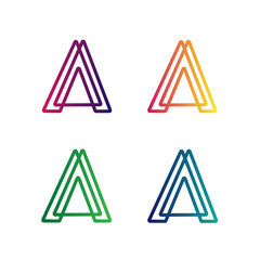 Letter A Logo Set Vector Design