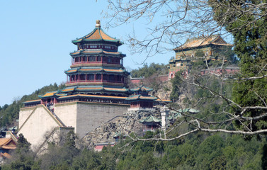 Famous palace building of the imperial Summer Palace in Beijing, China