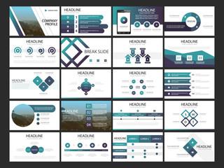 Bundle presentation infographic template, corporate banner flyer leaflet template