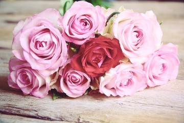 Blumenstrauß Rosen  - Rosenstrauß - Nostalgisch