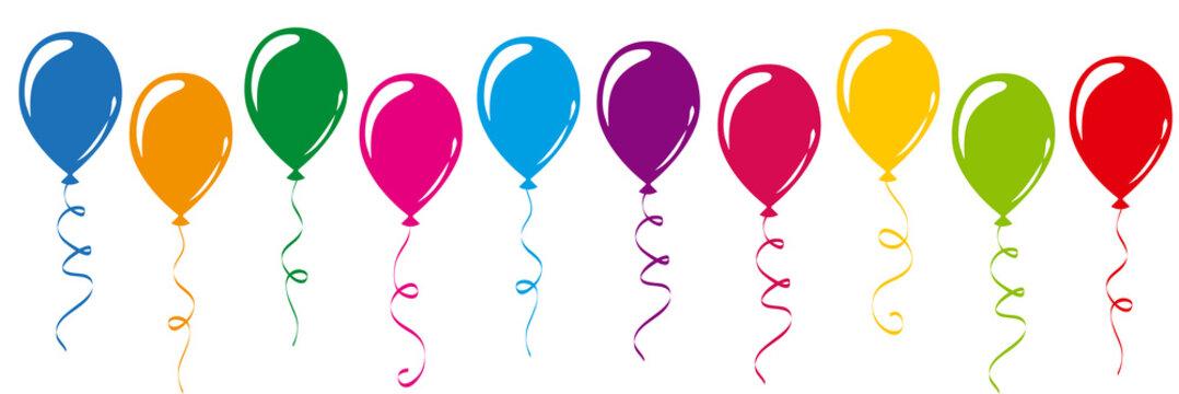 viele kunterbunte luftballons