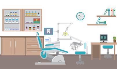 Vector illustration. Dental office. Flat design.