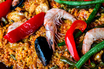 Paella Seafood Spain traditional dish
