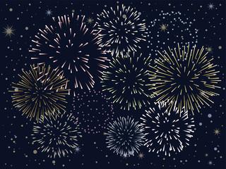 夜空に光る花火