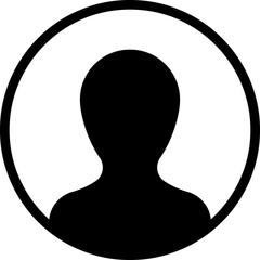 Profile, person in circle