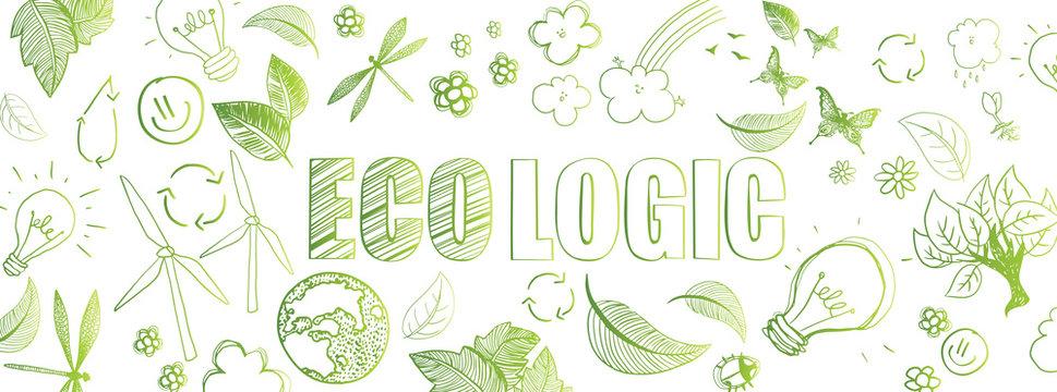 Ecologic doodles banner