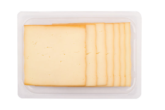 smoked cheese packaging on white background