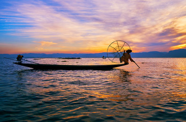 Evening on Inle Lake, Myanmar
