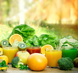 Healthy drink - beverage, drinks and smoothie are healthy if they are made with fresh, organic fruit and vegetable