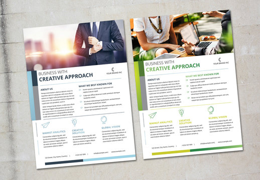 Flyer Layout with Colorful Accents