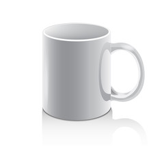 mug, cup, white, for the application of the company logo, gift. Vector illustration Eps10 file