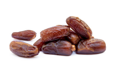 Dried sweet dates isolated on a white backgrounds