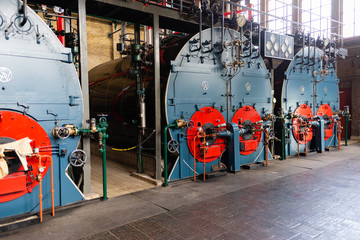 The ir D.F. Wouda pumping station in Tacozijl, Friesland, The Netherlands.
