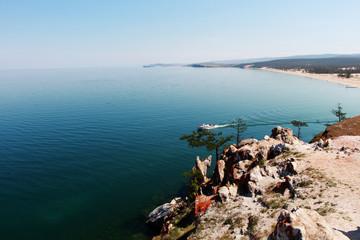 Summer Landscape on Lake Baikal, Olkhon Island