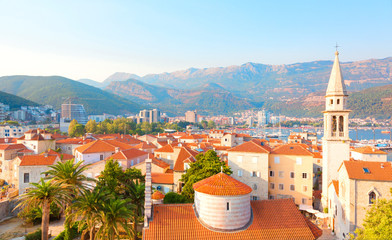 Beautiful cityscape of Budva, Montenegro